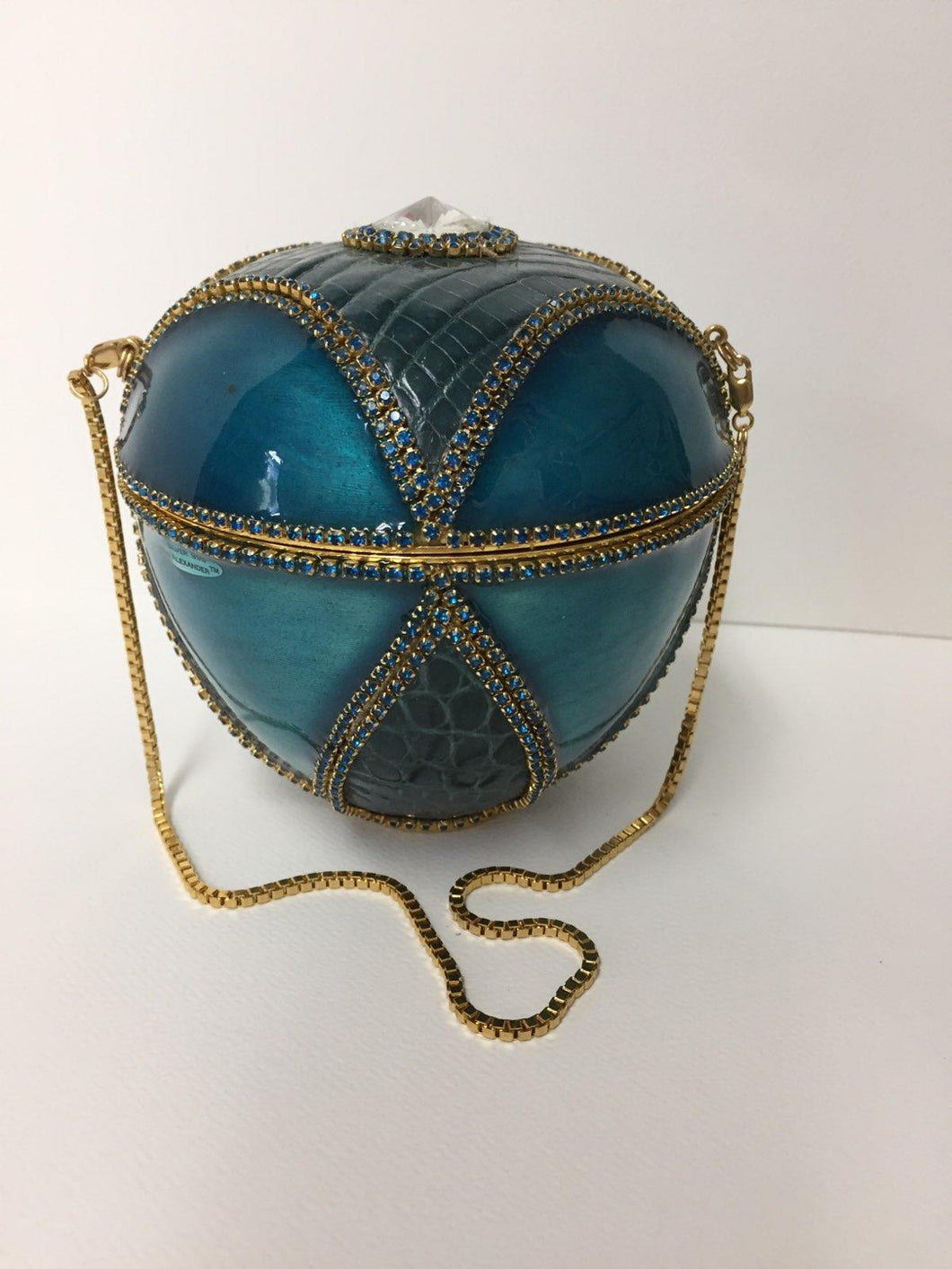 Turquoise Alligator Purse