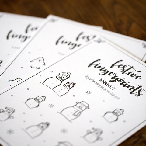Festive Fingerprints Fingerprint Worksheets