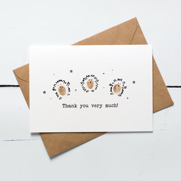 Hedgehog Thank You Card Kit