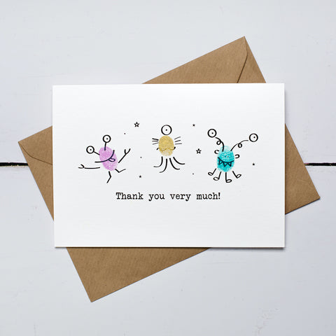 Out of This World Thank You Card Kit