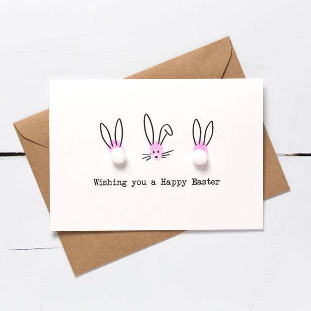 Easter Bunny Card Making Kit - Pink