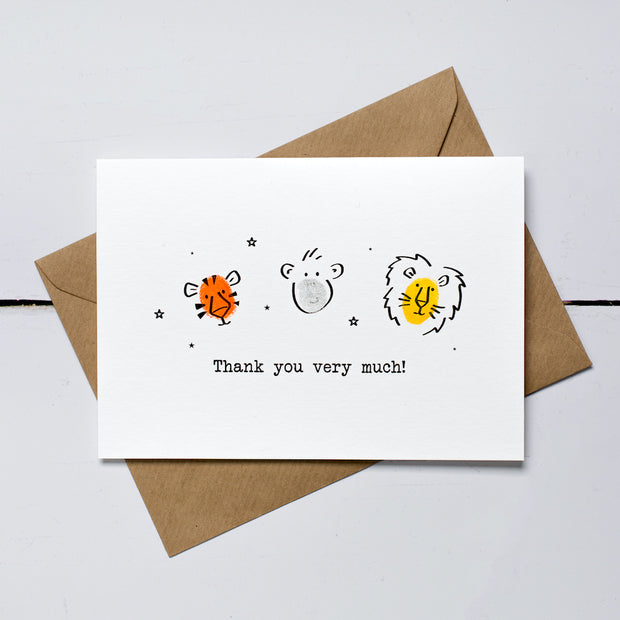 Wild Bunch Thank You Card Kit