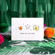 Jungle Animals Thank You Card Making Kit