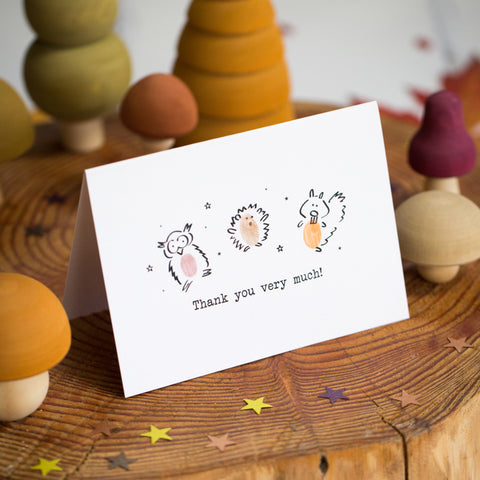 Woodland Friends Thank You Card Making Kit