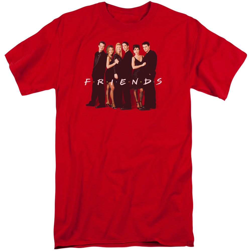 Friends - Cast In Black Short Sleeve Adult Tall