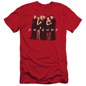 Friends - Cast In Black Short Sleeve Adult 30/1