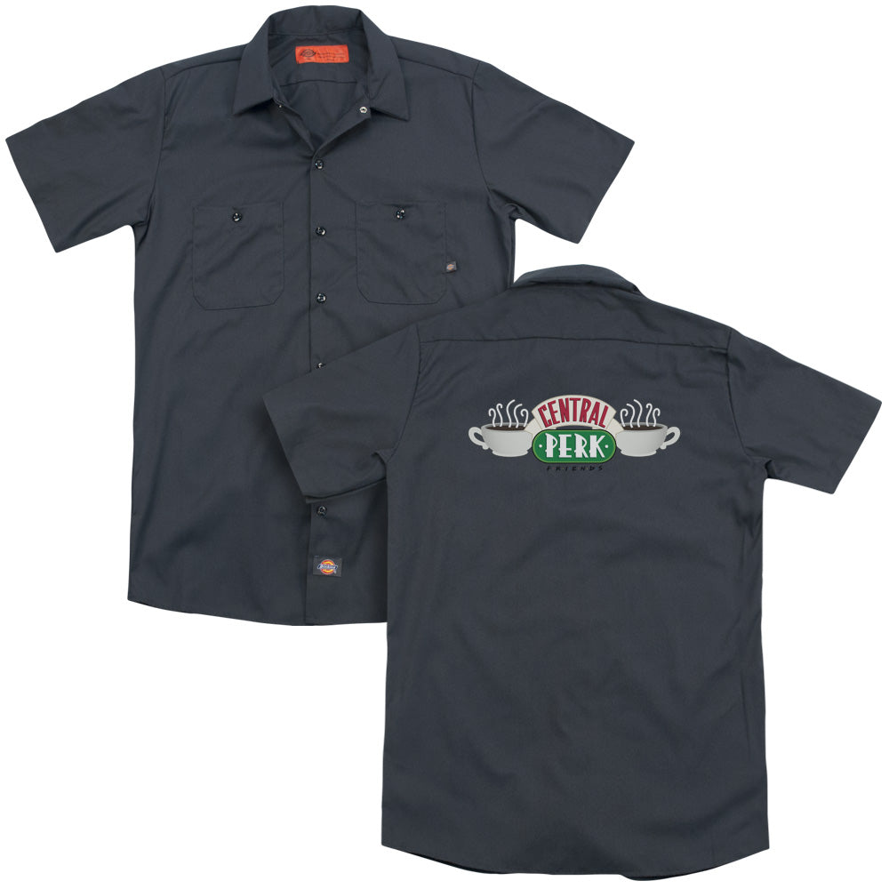Friends - Central Perk Logo (Back Print) Adult Work Shirt