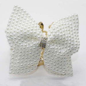 1PC White Pearl Hair Bow With Hair Clips