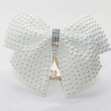 Load image into Gallery viewer, 1PC White Pearl Hair Bow With Hair Clips