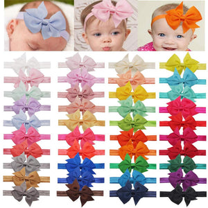 40 Colors Baby Headbands Hair Bows
