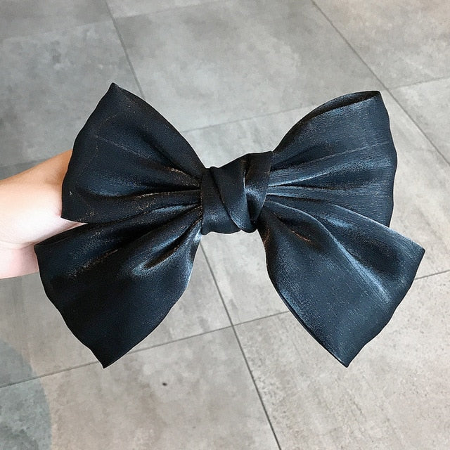 Solid Color Big Bow Hairpin