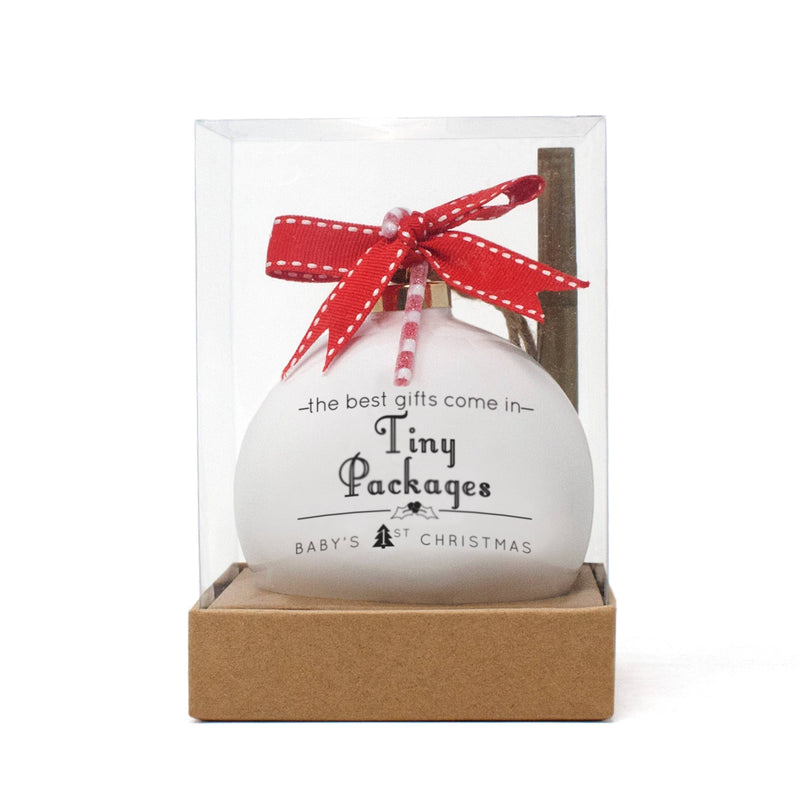 Tiny Packages Quotaball Ornament