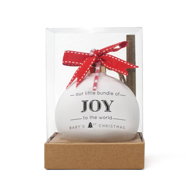 Joy Quotaball Ornament
