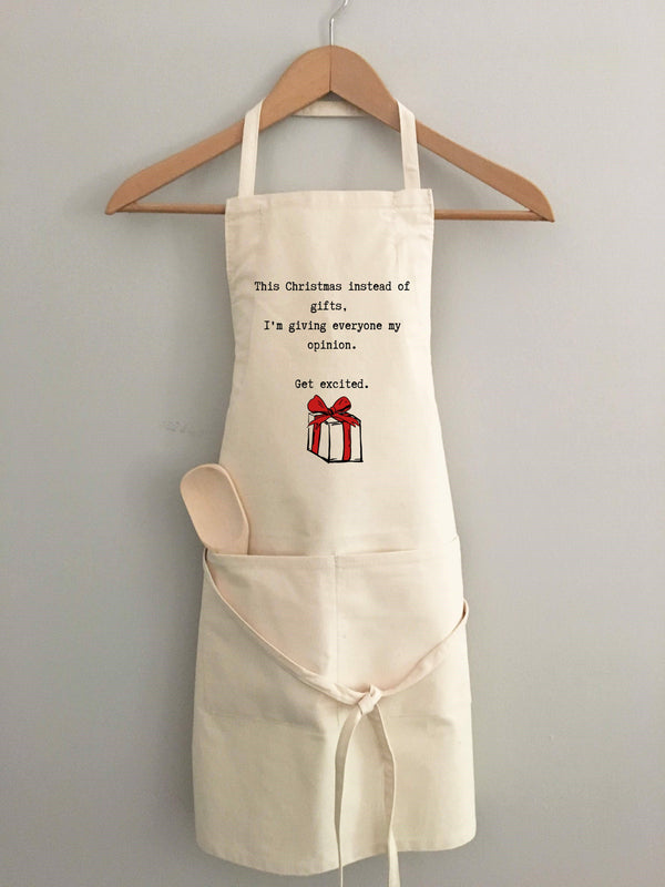Holiday Apron - Instead of Gifts