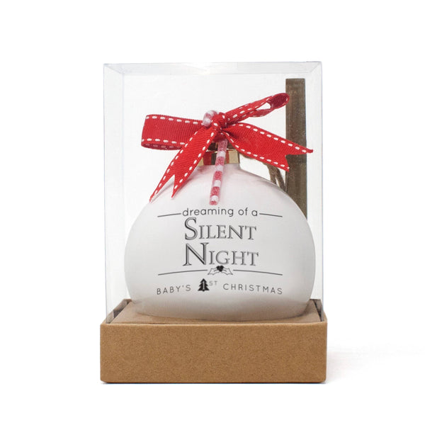 Silent Night Quotaball Ornament