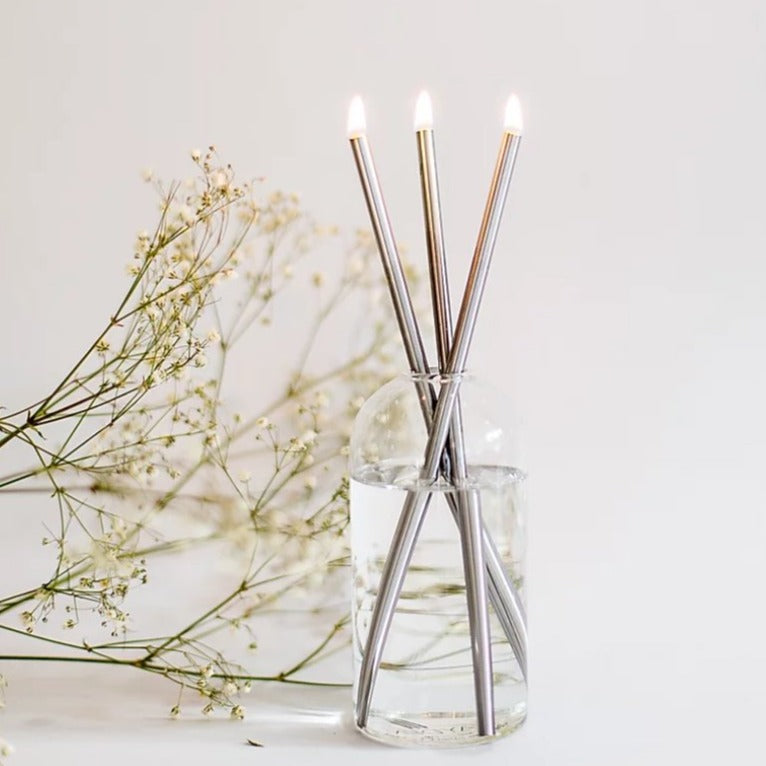 Everlasting Candle Set - Silver