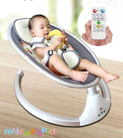Baby Rocking Auto Rotate Chair With Belt & Remote Control