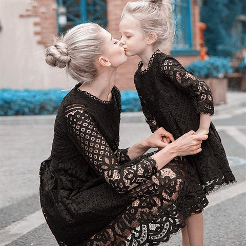 MOTHER DAUGHTER( 2-12Y) LACE PARTY DRESS