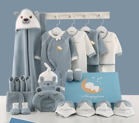 18-23 Pcs Full Set New Born Baby Clothes And Accessories 0-12M