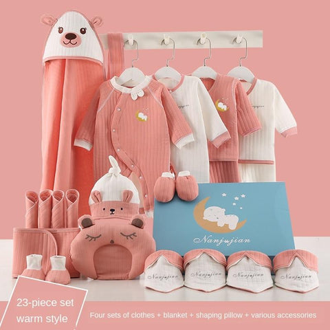 23 Pcs Full Set New Born Baby Clothes And Accessories