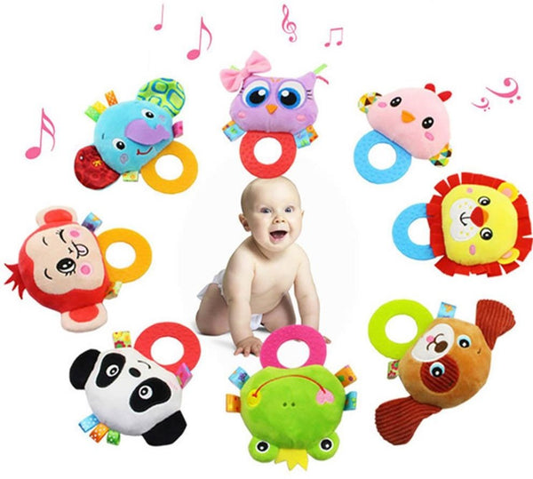 BABY RATTLE WITH SILICONE TEETHER