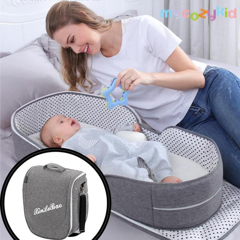 PORTABLE AND FOLDABLE SLEEPING BABY BED WITH MOSQUITO NEST