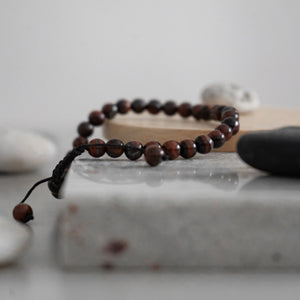 33 Bead Tasbih Bracelet - Brown Tiger Eye Stone