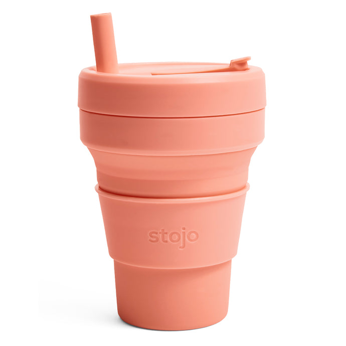 Stojo Biggie Collapsible cup 16oz Apricot