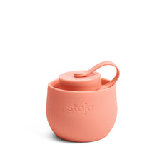 Load image into Gallery viewer, Stojo Collapsible Water Bottle 20oz Apricot Collapsed