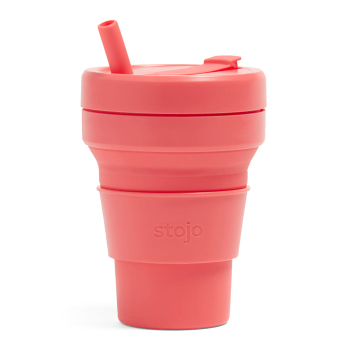 Stojo Biggie Collapsible cup 16oz Coral