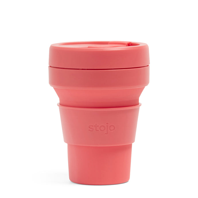 Stojo Collapsible Pocket Cup 12oz Coral