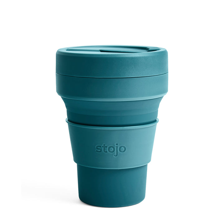 Stojo Collapsible Pocket Cup 12oz Lagoon