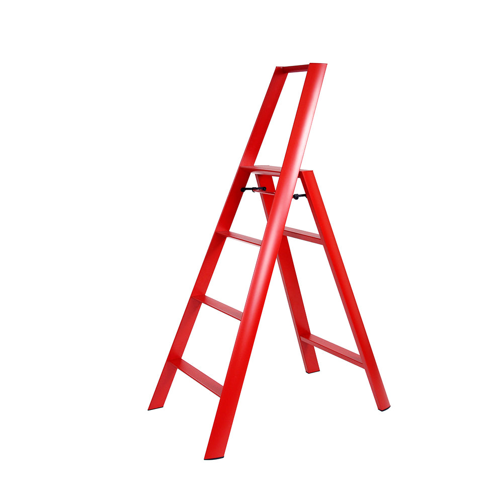 LUCANO ALUM 4 STEPSTOOL RED