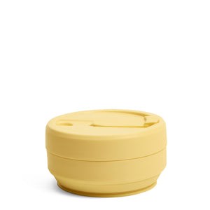 Stojo Biggie Collapsible cup 16oz Mimosa Collapsed