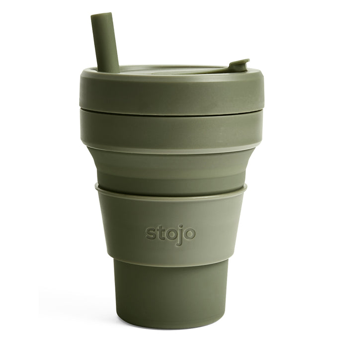 Stojo Biggie Collapsible cup 16oz Moss