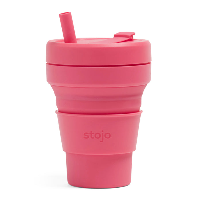 Stojo Biggie Collapsible cup 16oz Peony