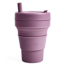 Load image into Gallery viewer, Stojo Biggie Collapsible Cup Plum 16oz