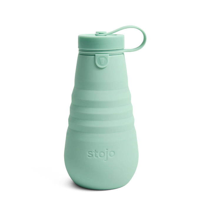 Stojo Collapsible Water Bottle 20oz Seaform Collapsed