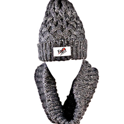 Fame and Glamour women's beanie and scarf set