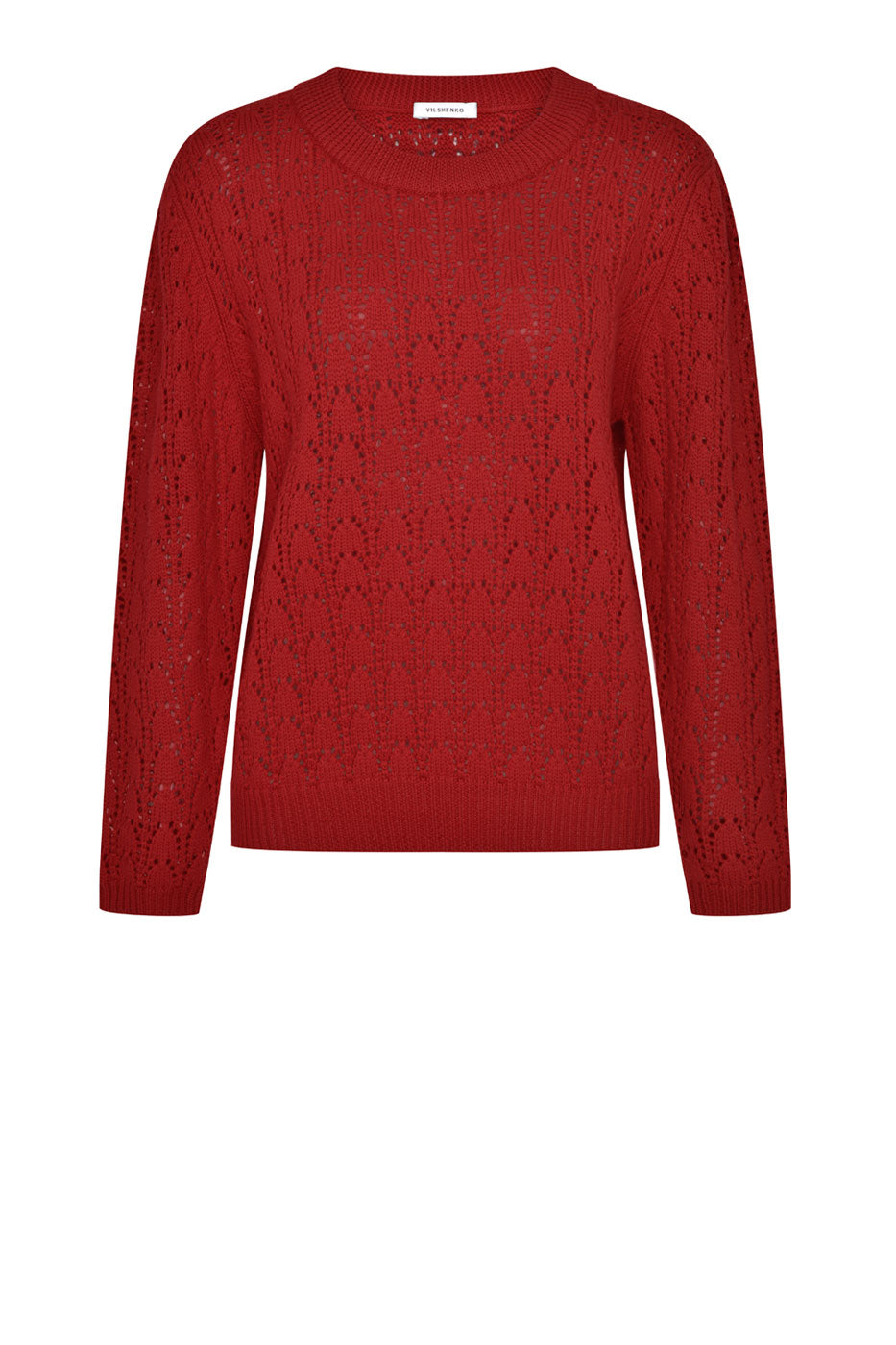 Lattice Jumper Burgundy
