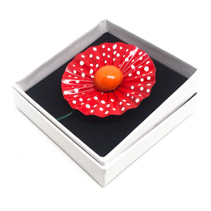 Enamelled Flower Brooch