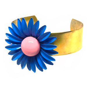 Enamelled Flower Cuff