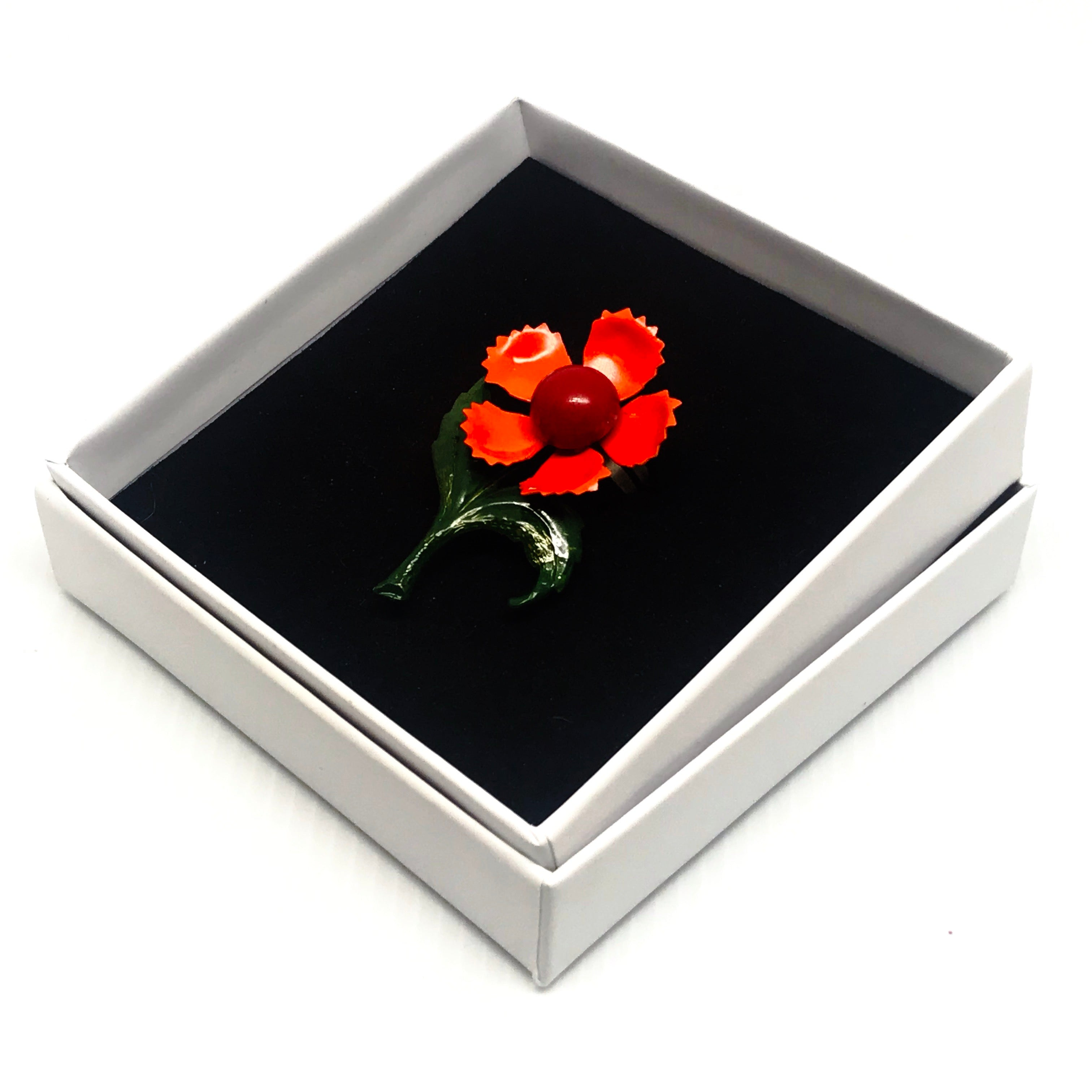 Enamelled Flower Ring