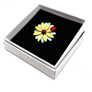 Enamelled Flower Rng