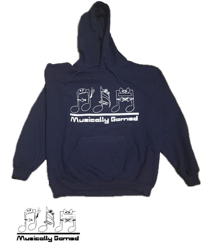 Navy Blue Musically Gamed Hoodie