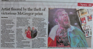 "2016: ""ARTIST FLOORED BY THE THEFT OF VICTORIOUS MCGREGOR PRINT"". The Herald. 20th December, 2016."