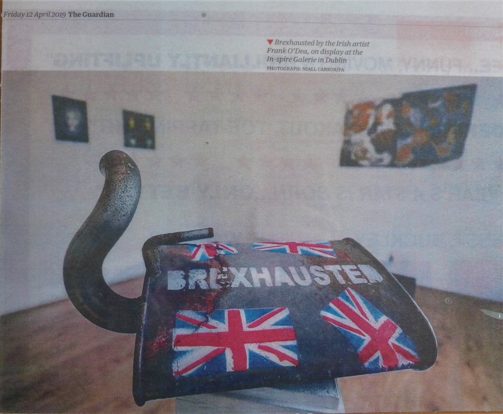 2019: BREXHAUSTED BY IRISH ARTIST FRANK O'DEA, ON DISPLAY AT THE IN-SPIRE GALERIE IN DUBLIN.  The Guardian. 12th April 2019.
