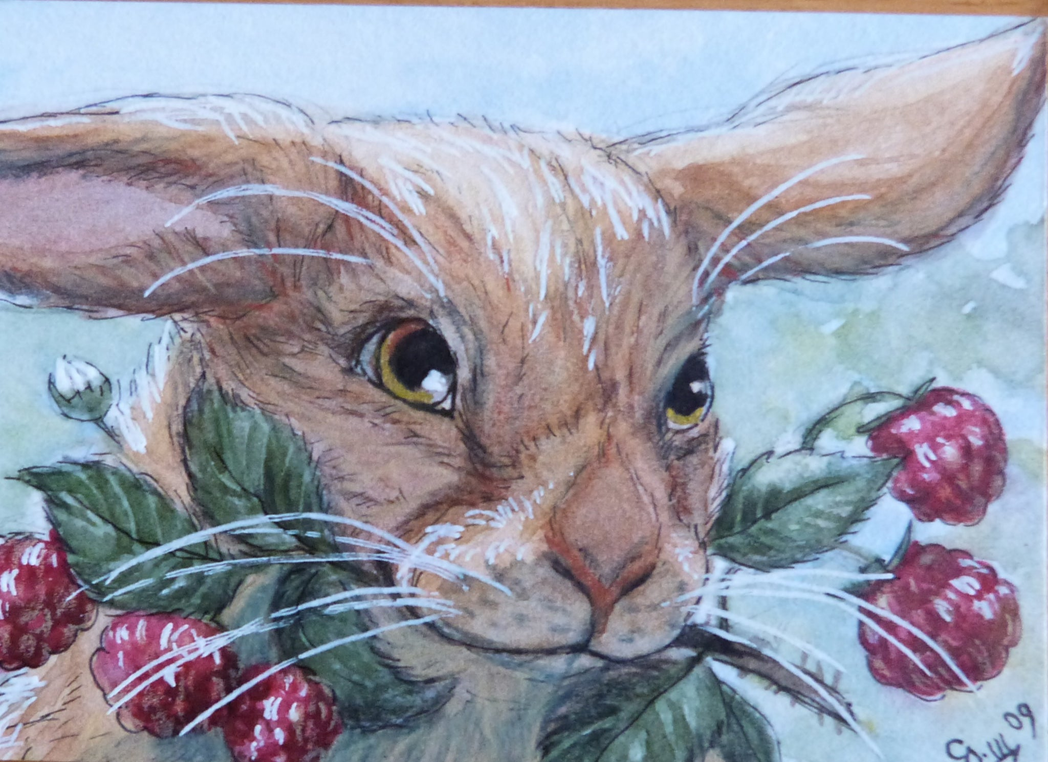 "Minature - Svetlana Ledneva Schukina ""Hare and Wild Strawberry"""