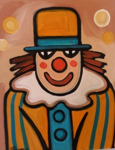 "J P Rooney ""Yellow Clown"""