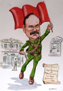 "Ray Sherlock ""James Connolly flying the flag, Easter Rising1916"""